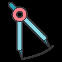 Compasses circle circumference flat