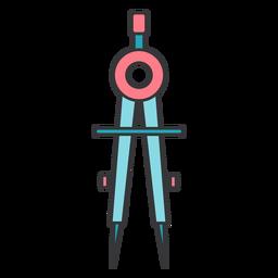 Compasses circumference circle flat
