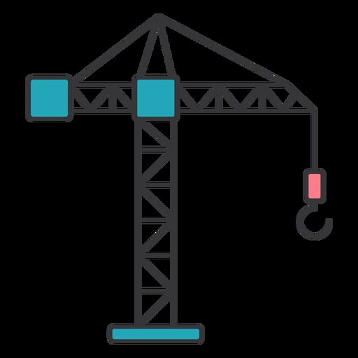 Crane load weight rope boom jib cab flat Transparent PNG