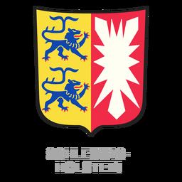 Cresta de la provincia alemana schleswig holstein