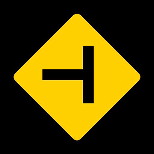 Crossing crossroads rhomb warning flat Transparent PNG