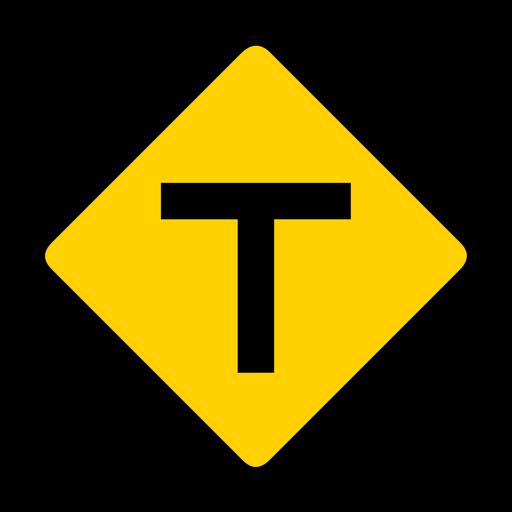 Cruce de rombos cruce de advertencia plana. Transparent PNG