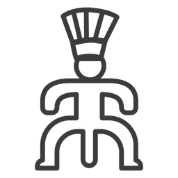 Crown posture phallus fertility stroke