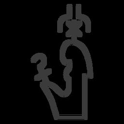 Varita corona cetro cetro trazo