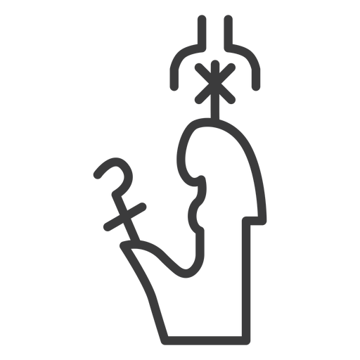Crown wand scepter sceptre stroke Transparent PNG