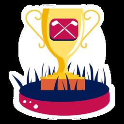 Copa victoria campeón club de golf campo de golf campo oro plano
