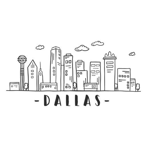 Dallas cathedral dome tower skyline sticker