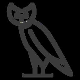 Divinidad pájaro ave búho búho ala trazo