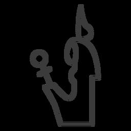 Divinity crown scepter sceptre cross stroke