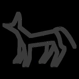 Cão gato figura perna cauda traço de ouvido