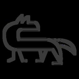 Hund Fuchs Mündung Göttlichkeitsstrich