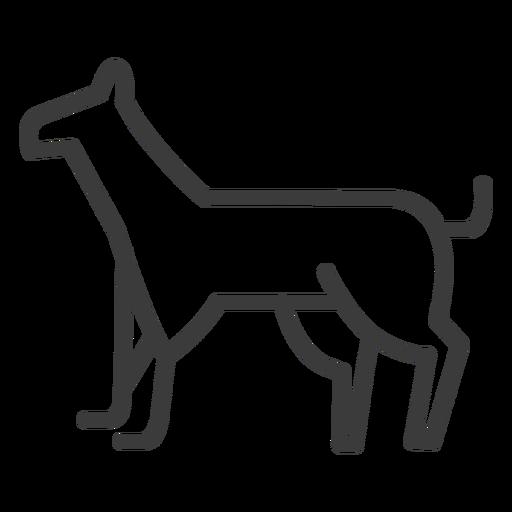 Dog guard security stroke Transparent PNG