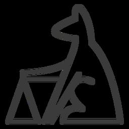 Hundepyramide Tier Dreieck Göttlichkeitsstrich