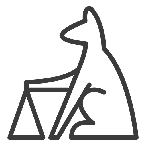 Dog pyramid animal triangle divinity stroke Transparent PNG