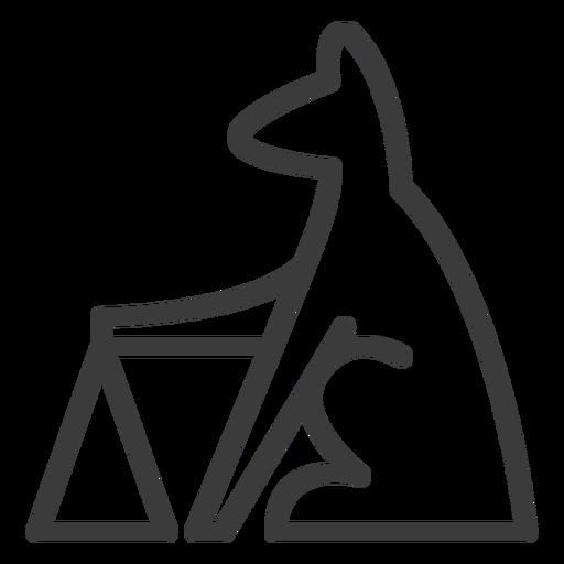 Perro pirámide animal triángulo divinidad trazo. Transparent PNG
