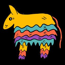 Burro piñata color color boceto