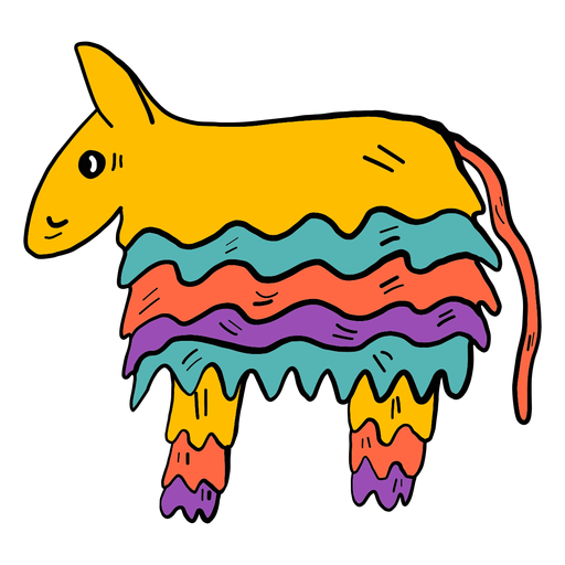 Donkey piñata color colour sketch Transparent PNG