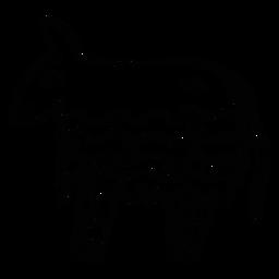 Donkey piñata sketch