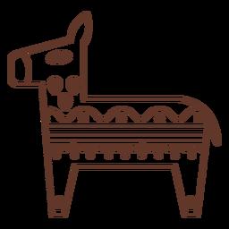 Línea de trazo de burro