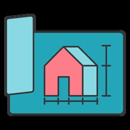 Proyecto de esquema de medidas de papel edificio edificio construcción casa plana