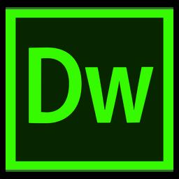 Ícone colorido do dw de Dreamweaver