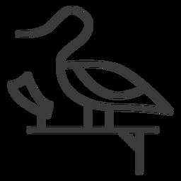 Pato cisne pedestal divinidad ala papiro trazo