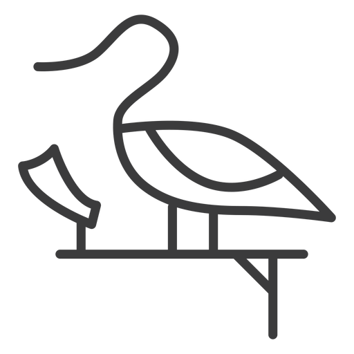 Duck swan pedestal divinity wing papyrus stroke Transparent PNG