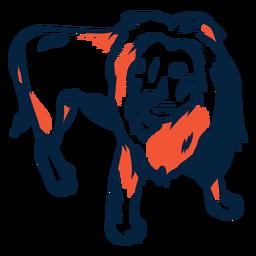 Ilustração de leão duotone