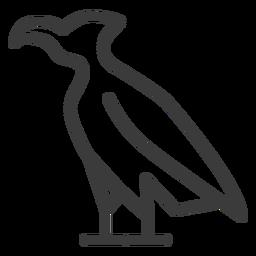 Pico de águila ala de halcón trazo