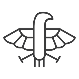 Águila halcón pico ala pluma divinidad trazo