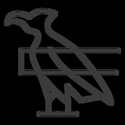 Ala de halcón de águila pico pico trazo