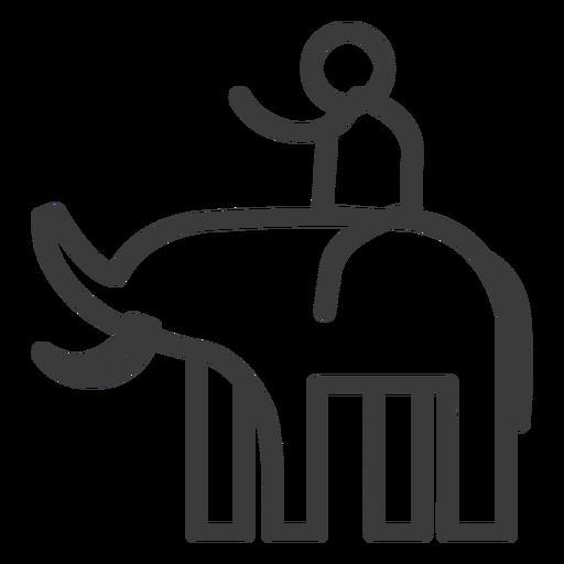 Elefante presa tronco piloto pessoa acidente vascular cerebral Transparent PNG