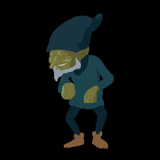Elfo barbudo hombre barba sombrero ilustración Transparent PNG