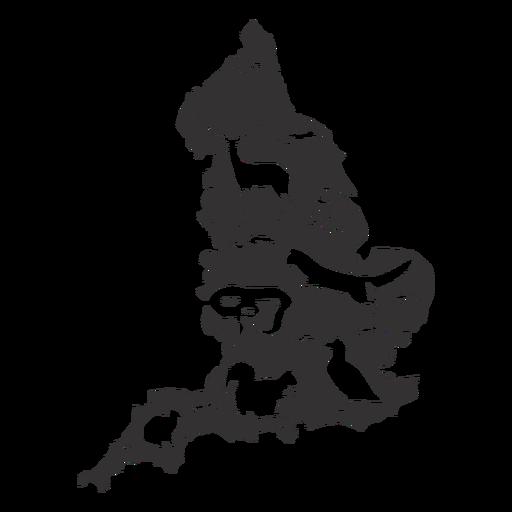 Silhueta de Inglaterra Transparent PNG