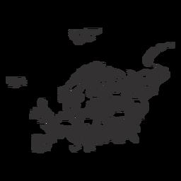 Silhueta de mapa da Europa