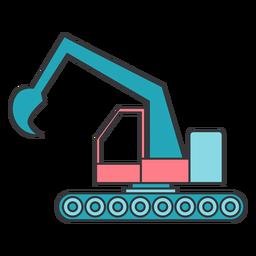 Excavator bucket flat