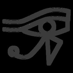 Ojo ra dios sol sol dios amuleto faraón trazo