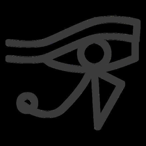 Eye ra god sun sun god amulet pharaoh stroke Transparent PNG