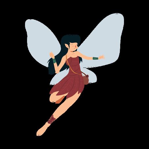 Fada vestido asa folha dança ilustração Transparent PNG