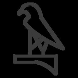 Trazo de ala de pico de halcón
