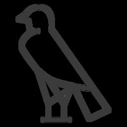 Trazo de divinidad pájaro halcón