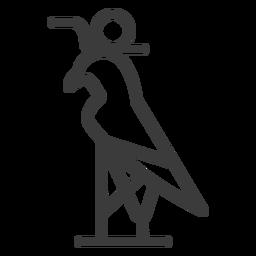 Falcon crown circle beak wing stroke