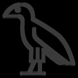 Falcon águila ala ojo pico trazo