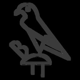 Trazo de pico de ala de ojo de halcón