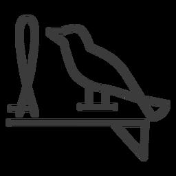 Trazo de bucle de ala de halcón