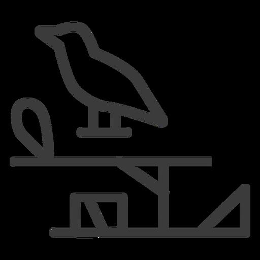 Trazo de pico de bucle de ala de halcón