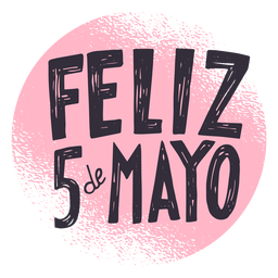 Feliz 5 de mayo circle sticker