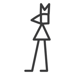 Figura, coroa, perna, triangulo, divindade, golpe