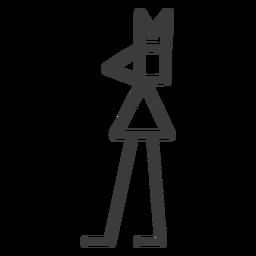 Figure crown leg triangle divinity stroke