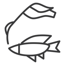 Curso de nadadeira de nilo de cana-de-peixe